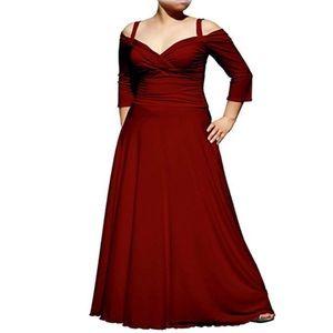 "Dresses & Skirts - Burgundy-Red or ""Wine"" Colored Floor Length Dress"